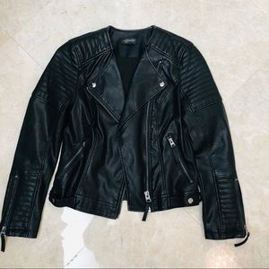 Topshop faux leather motto jacket 4